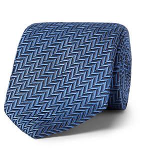 Ermenegildo Zegna 7cm Herringbone Silk Tie