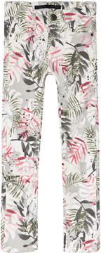 Ikks Grey Floral Print Slim Fit Jeans