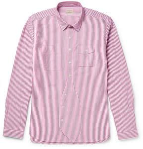 Lardini Wooster + Striped Cotton Oxford Shirt