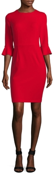 Donna Morgan Women's Solid Sheath Dress