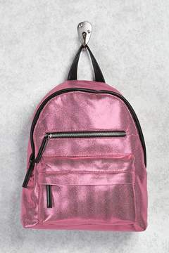Forever 21 Metallic Textured Backpack