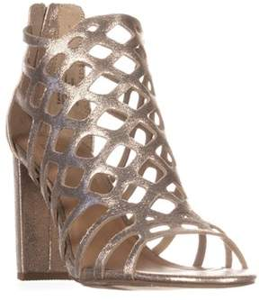 Material Girl Mg35 Cadence Caged Sandals, Gold.