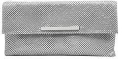 La Regale Modern Metal Mesh Envelop Clutch.