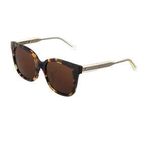 Bottega Veneta Two-Tone Square Havana Plastic Sunglasses