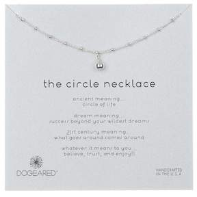 Dogeared Sterling Silver 'The Circle' Beaded Ball Pendant Necklace