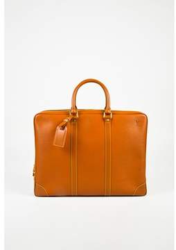 Louis Vuitton Pre-owned Vintage Cannelle Tan Epi Leather Porte Documents Voyage Briefcase.