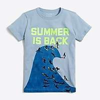 J.Crew Factory Boys' short-sleeve summer wave graphic T-shirt