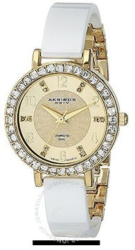 Akribos XXIV Gold-tone Base Metal Ladies Watch