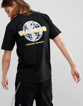 Diamond Supply Co. T-Shirt With Worldwide Back Print in Black