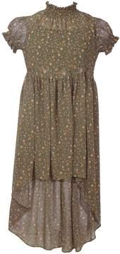 Bonnie Jean Girls 7-16 Smocked Collar High-Low Hem Dress