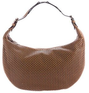 Christian Dior Laser Cut Leather Hobo