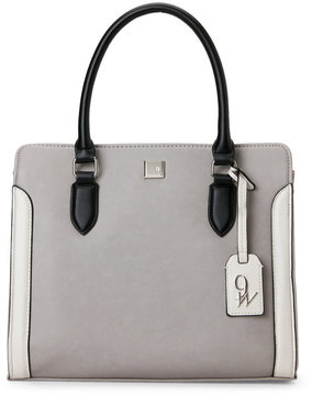 Nine West Dove & Black Me Time Satchel