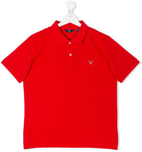 Gant Kids Teen embroidered logo polo shirt