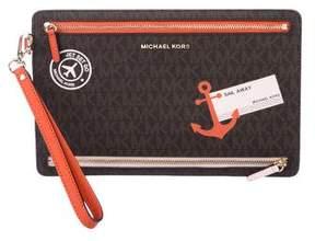MICHAEL Michael Kors Sail Away Monogram Clutch w/ Tags