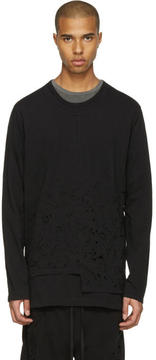 The Viridi-anne Black Destroyed Long Sleeve T-Shirt