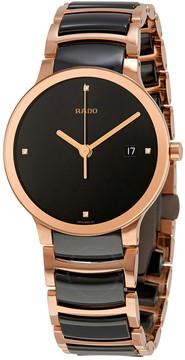 Rado Centrix Jubile Black Dial Black Ceramic Men's Watch