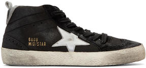 Golden Goose Deluxe Brand Black Midstar Sneakers