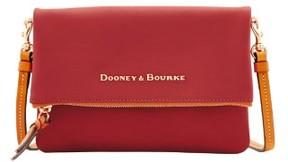 Dooney & Bourke City Foldover Zip Crossbody Shoulder Bag - PERSIMMON - STYLE
