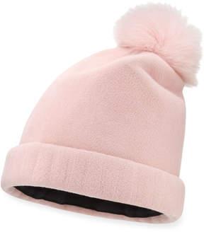Neiman Marcus Yestadt Millinery Bunnie Structured Felt Beanie, Pink