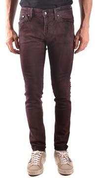 Meltin Pot Men's Burgundy Cotton Jeans.