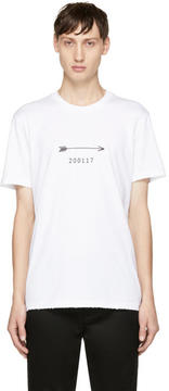 Givenchy White Arrow and Show Date T-Shirt