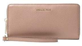 MICHAEL Michael Kors Money Pieces Leather Continental Wristlet