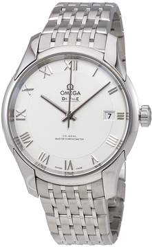 Omega De Ville Hour Vision White Dial Stainless Steel Men's Automatic Watch