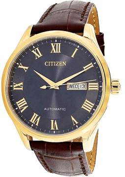 Citizen Men's NH8363-14H Gold Leather Japanese Automatic Dress Watch