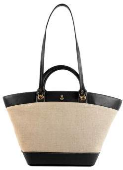 London Fog Polle Leather Tote