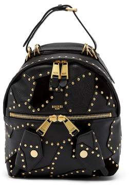 Moschino Studded Leather Backpack