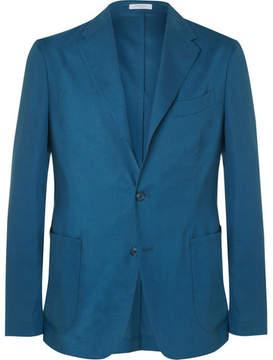 Boglioli Blue Slim-Fit Wool And Silk-Blend Blazer