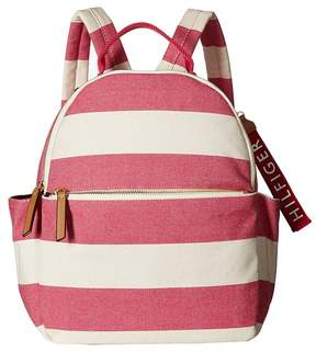 Tommy Hilfiger Classic Tote Backpack Woven Rugby Backpack Bags