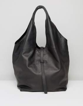 Asos Leather Slouchy Shoulder Shopper Bag