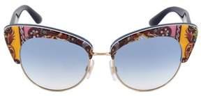 Dolce & Gabbana Cat Eye Sunglasses Dg4277 303619 52 | Motif Frame | Blue Gradient Lenses.