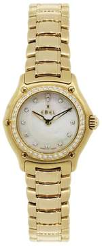 Ebel 1911 18K Yellow Gold Mother Of Pearl Diamond Dial and Bezel 26mm Womens Watch
