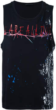 Haider Ackermann rock print vest