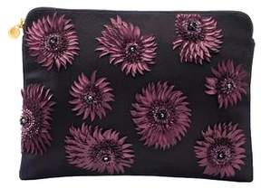 Forest of Chintz Modern Aster Purple Clutch Bag