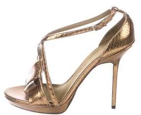 Burberry Embossed Metallic Sandals