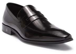 Versace Spazzolato Leather Penny Loafer