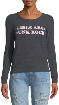 Chaser Punk Rock Long-Sleeve Slogan Tee