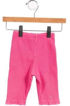 Lili Gaufrette Girls' Knit Lace-Trimmed Pants