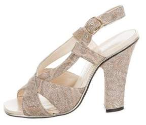 Marc Jacobs Brocade Crossover Sandals