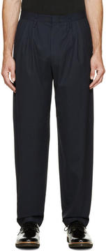 Paul Smith Navy Patterned Trousers