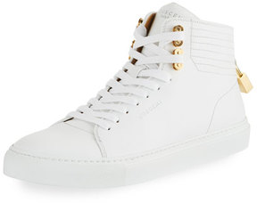 Buscemi 100mm Link Leather Mid-Top Sneaker