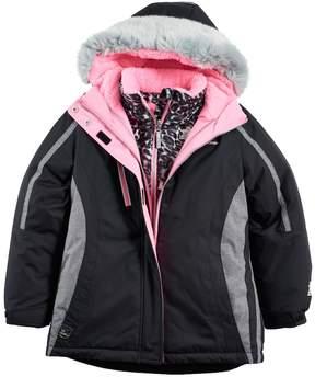 ZeroXposur Girls 7-16 Kiara Heavyweight Faux-Fur Trim Systems Jacket