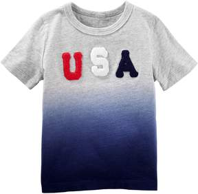 Osh Kosh Oshkosh Bgosh Toddler Boy USA Dip Dyed Top