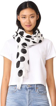 Kate Spade New York Grid Dot Oblong Scarf