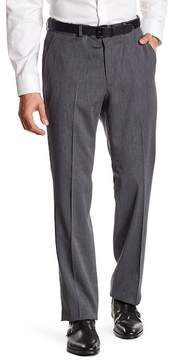 Kenneth Cole New York Gray Woven Flat Front Dress Pants - 30-34\ Inseam