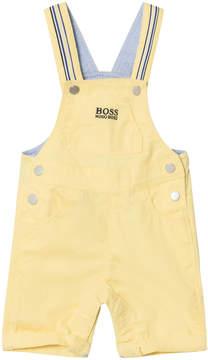 BOSS Yellow Twill Dungarees