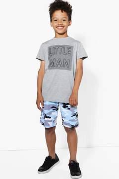 boohoo Boys Light Camo Short